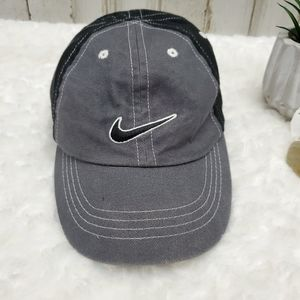 Nike Gray and Black Cap Sz Infant